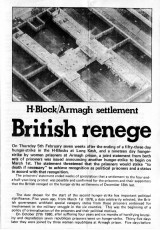 H-Block/Armagh Settlement: British Renege [Leaflet]