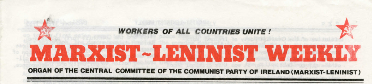 Marxist-Leninist Weekly
