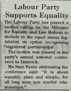 GCN Article: Labour Party Supports Equality