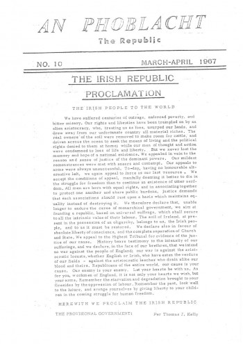 An Phoblacht, Vol. 1, No. 10