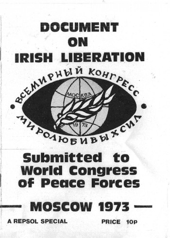 Document on Irish Liberation Submitted to World Congress of Peace Forces, Moscow 1973