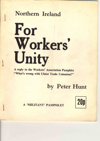 Northern Ireland - For Workers' Unity