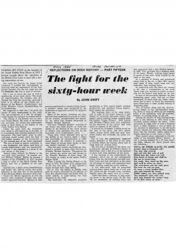 The Fight for the Sixty-Hour Week