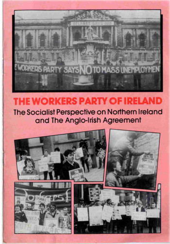 The Socialist Perspective on Northern Ireland and the Anglo-Irish Agreement