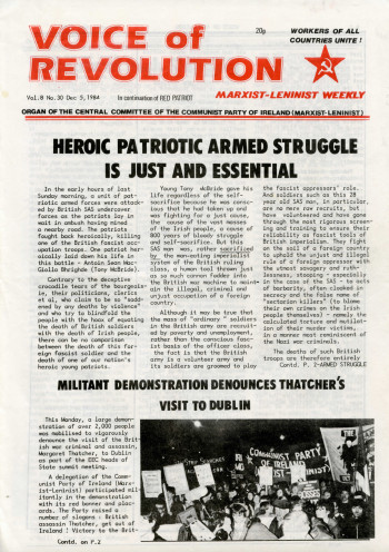 Voice of Revolution (Marxist-Leninist Weekly), Vol. 8, No. 30