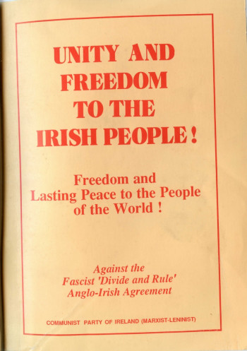 Unity and Freedom to the Irish People!
