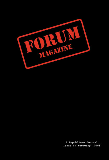 Forum Magazine, No. 1