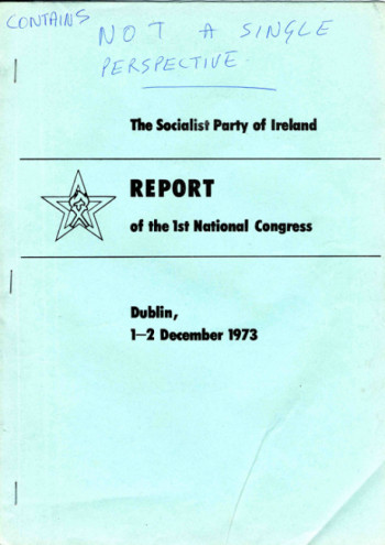 Report of the 1st National Congress