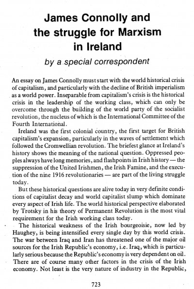 James Connolly and the struggle for Marxism in Ireland