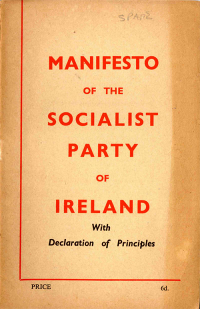 Manifesto of the Socialist Party of Ireland with Declaration of Principles