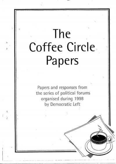 The Coffee Circle Papers:  Contents, Foreword and Paper 1