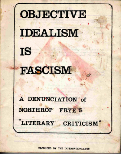 Objective Idealism is Fascism