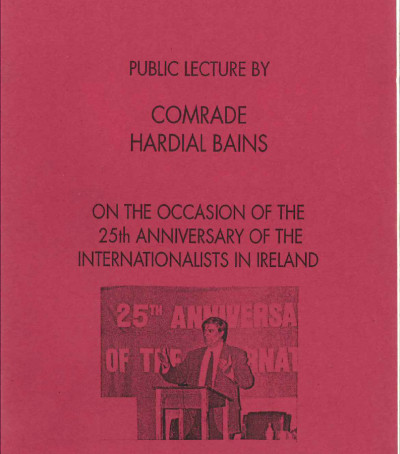 Public Lecture by Comrade Hardial Bains