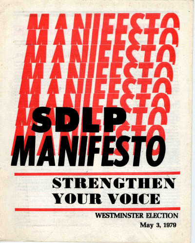 SDLP Election Manifesto, Westminster Election, 1979
