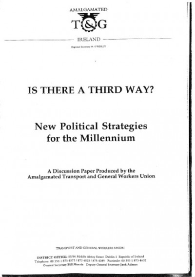 Is There a Third Way? New Political Strategies for the Millennium