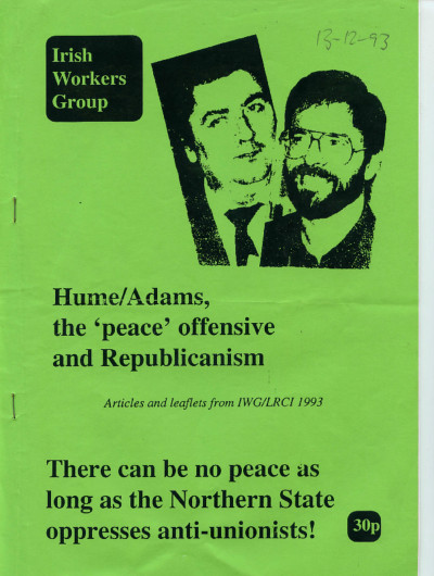 Hume/Adams, the 'peace' offensive and Republicanism