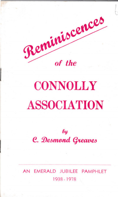 Reminiscences of the Connolly Association
