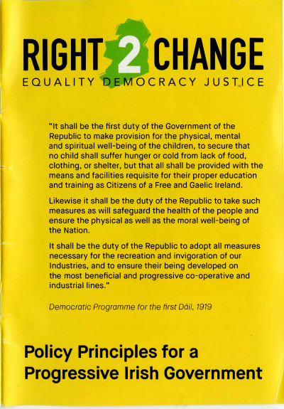 Policy Principles for a Progressive Irish Government