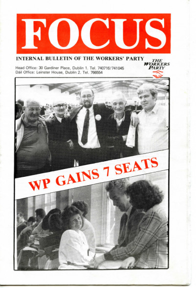 Focus: Internal Bulletin of the Workers' Party