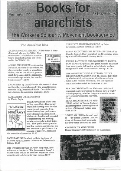 Books for Anarchists