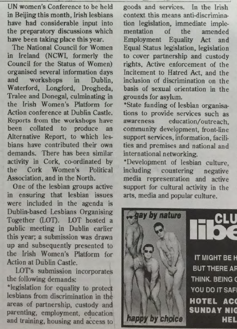 GCN Article: Irish Lesbian Voices at Beijing [Enlarged Extract]