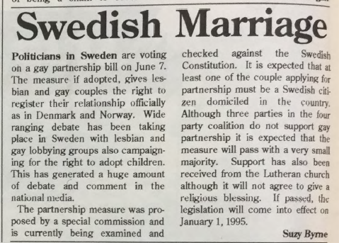 GCN Article: Swedish Marriage