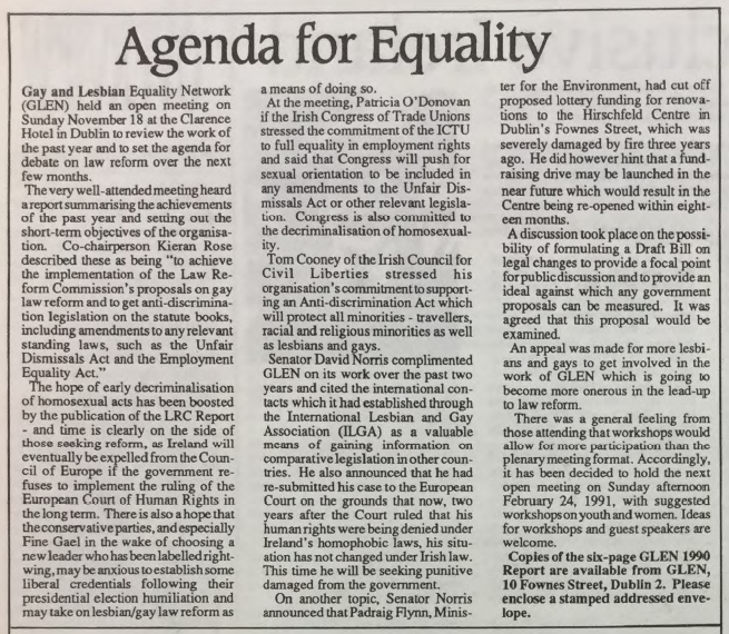 GCN Article: Agenda for Equality
