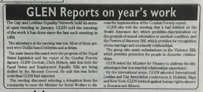GCN Article: GLEN Reports on Year's Work