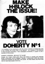 Make H-Block the Issue! Vote Doherty No. 1 [Election Leaflet]
