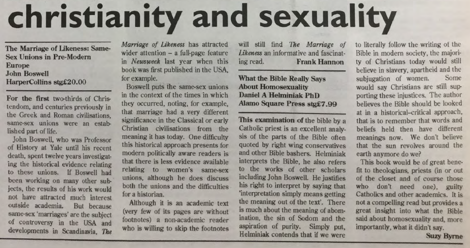GCN Article: Christianity & Sexuality